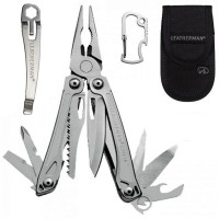 Picture of Leatherman Sidekick Multi-Tool Stainless W/ Carabiner & Nylon Sheath 831429